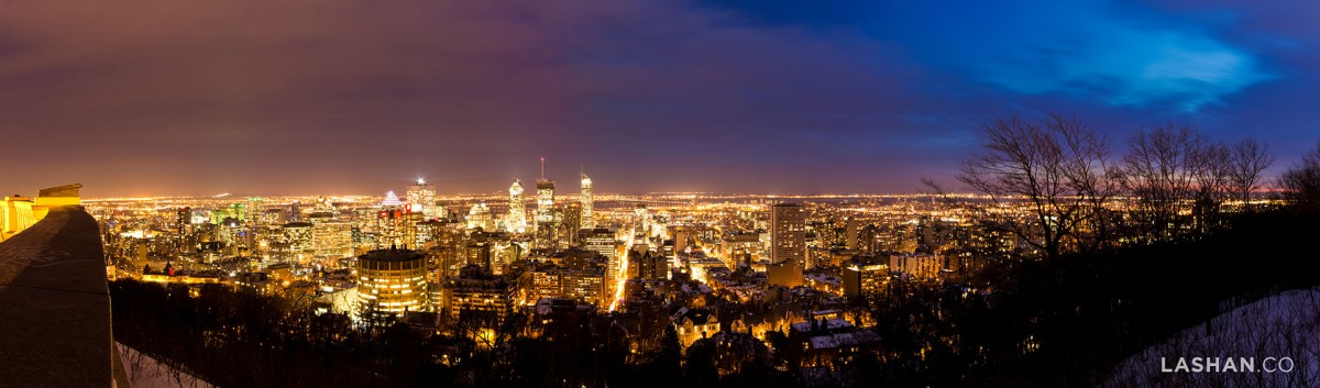 Montréal from the top of it's namesake Mont Royal. Your city is your playground.